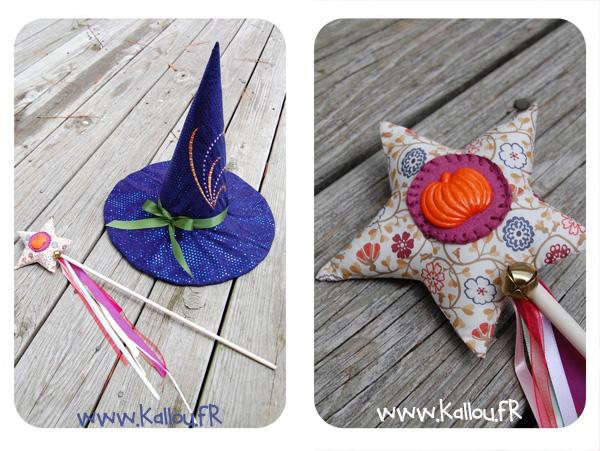 Halloween 3 baguette magique et chapeau pointu les - Sorciere halloween a fabriquer ...