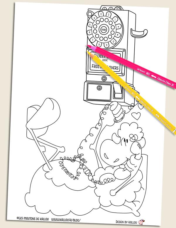 Les Mercredis De Kallou 9 Le Coloriage Telephone Les Moutons De Kallou