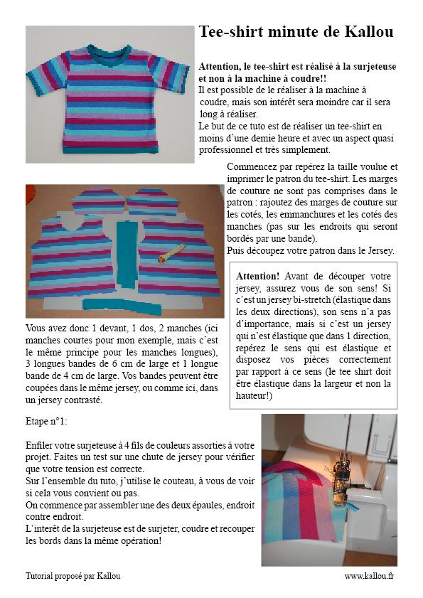 a5ad5959c4d0 Tuto du tee-shirt minute de Kallou